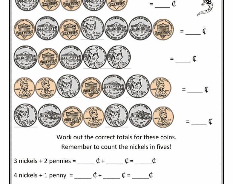 Math Worksheets Money Making Change