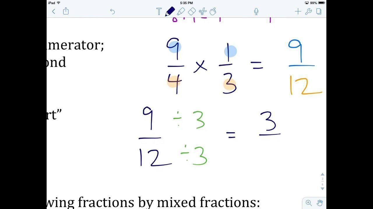 Math Worksheets Multiplying Fractions 1