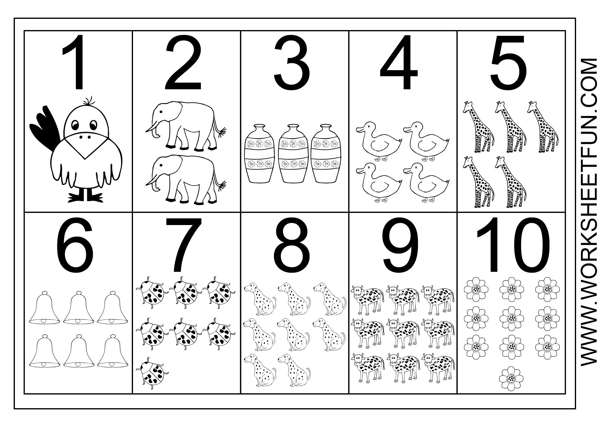 Math Worksheets Numbers 1-10 1
