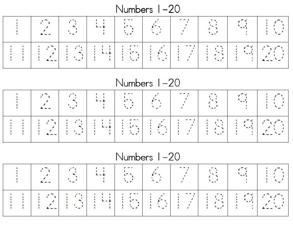 Math Worksheets Numbers 1-50
