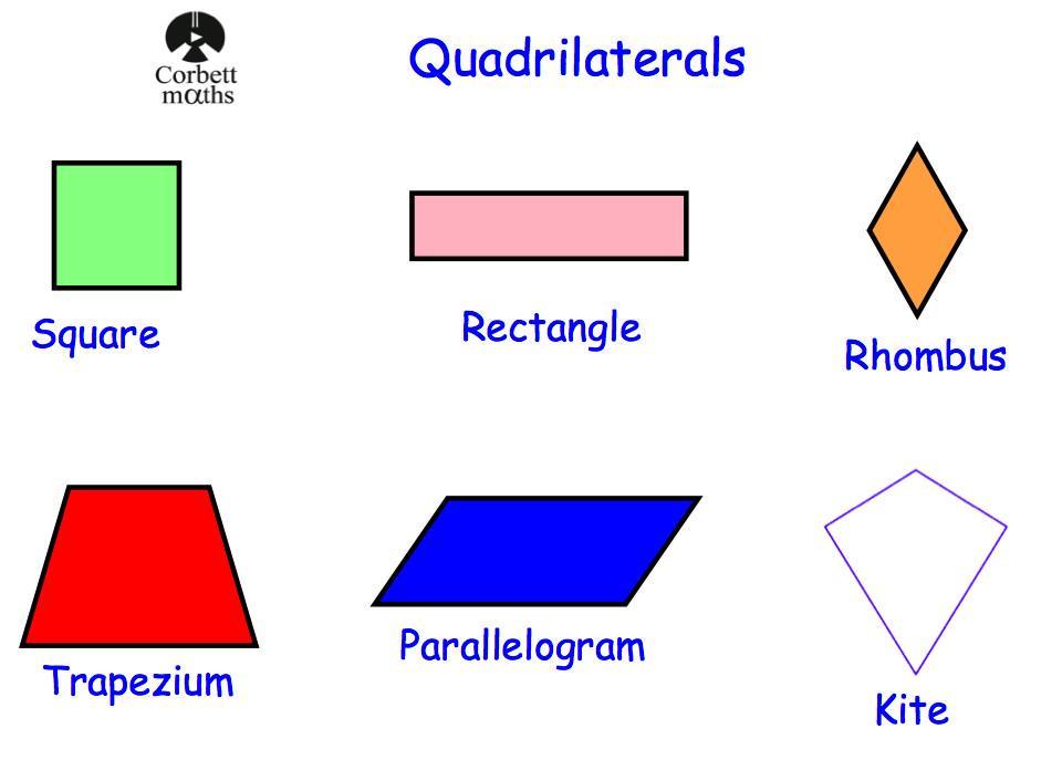 Math Worksheets Quadrilaterals 1