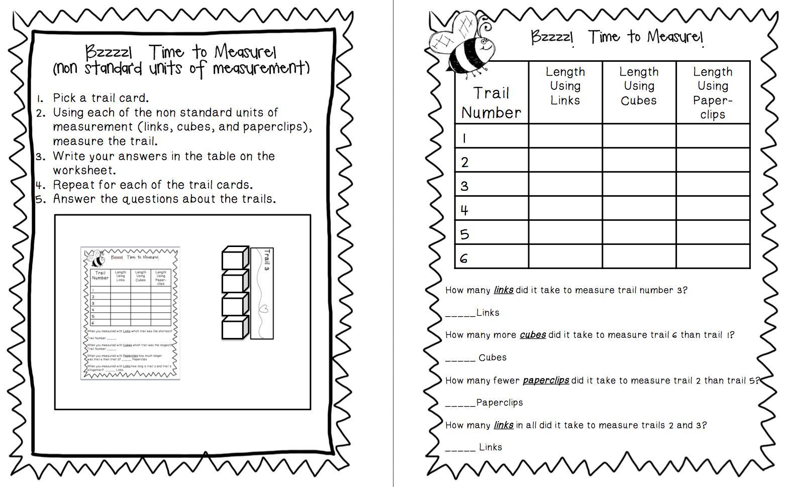 Math Worksheets Units Of Measurement 3