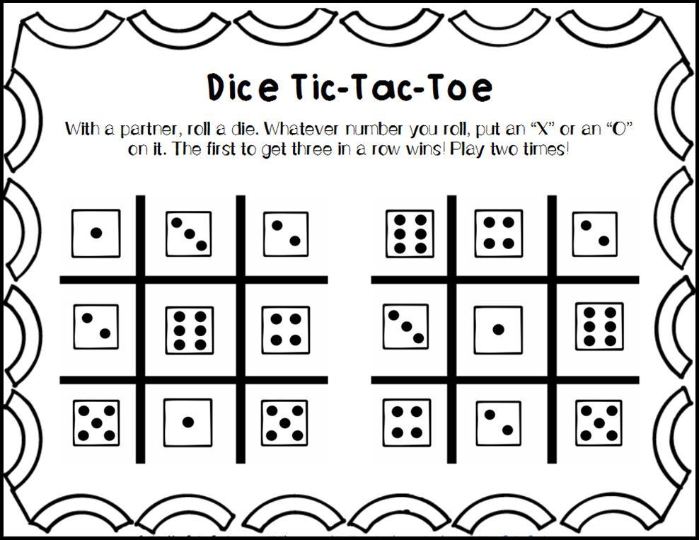 Math Worksheets Using Dice 3