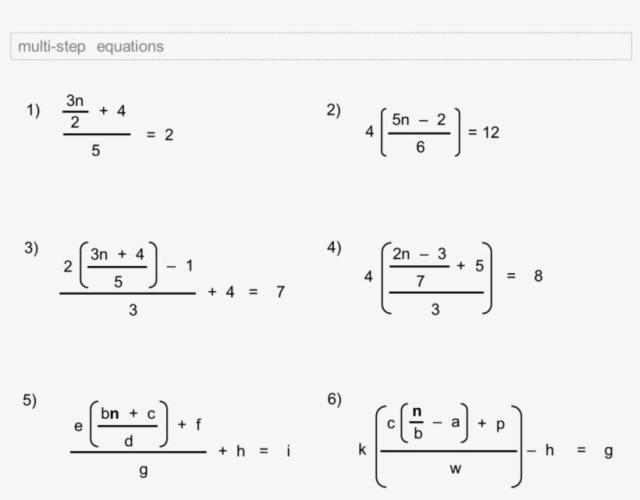 Algebra Worksheets Grade 9 2