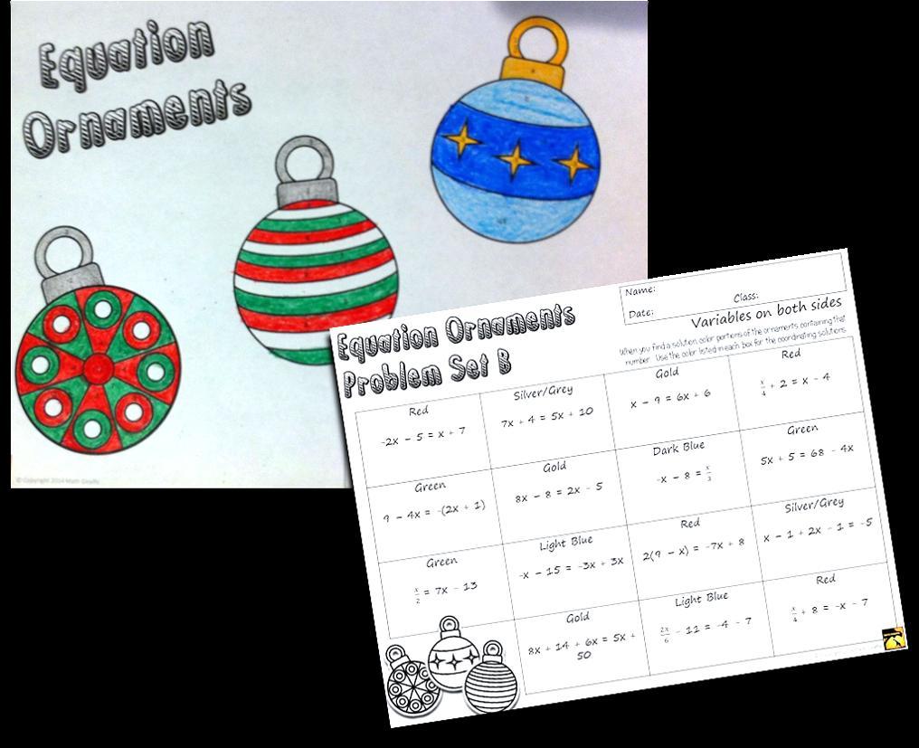 Math Christmas Worksheets Pdf