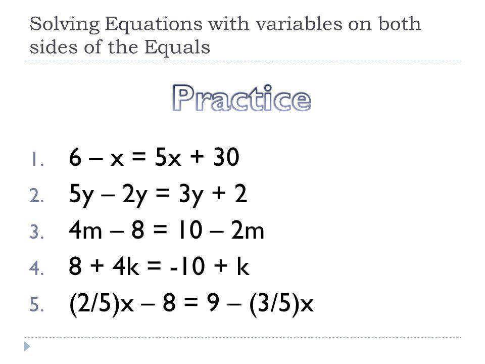 Math Worksheets Algebraic Expressions