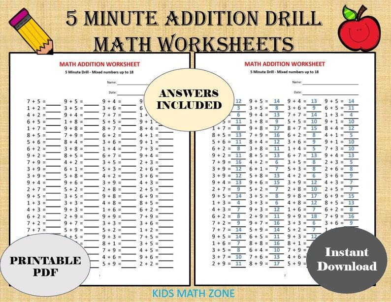 Math Worksheets Grade 5 With Answers