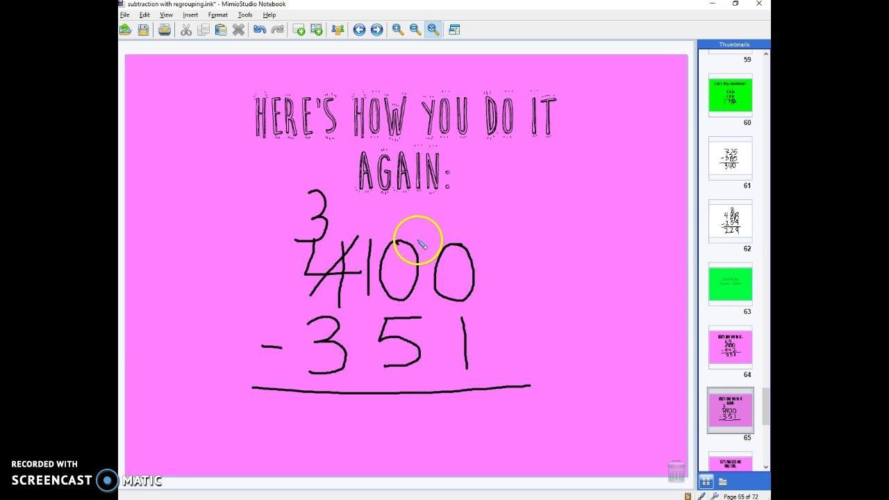 Math Worksheets Subtraction Across Zeros 6