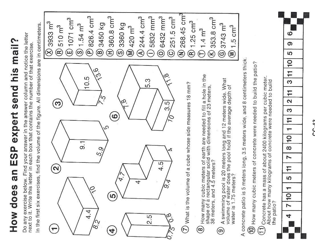 Math Worksheets Volume 1