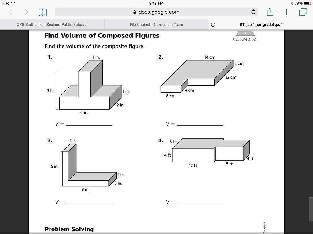 Math Worksheets Volume Of Triangular Prism