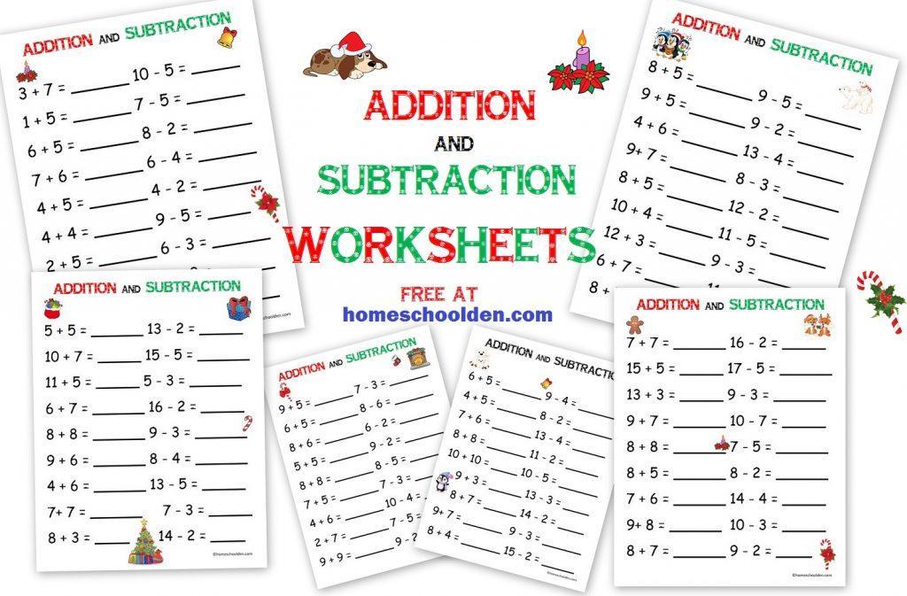 Math Xmas Worksheets 1