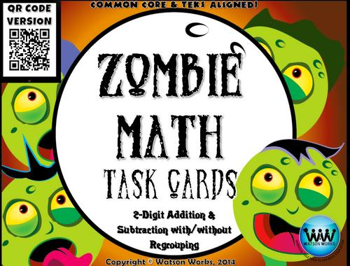 Zombie Math Worksheets 4
