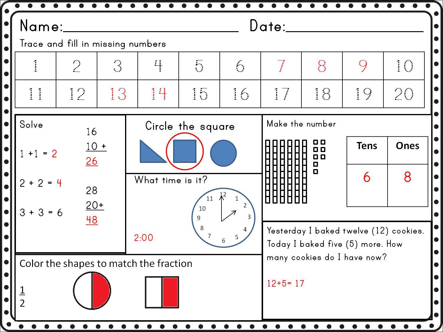 Algebra Worksheets Common Core 3