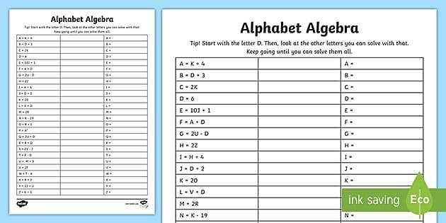 Algebra Worksheets Ks2 With Answers