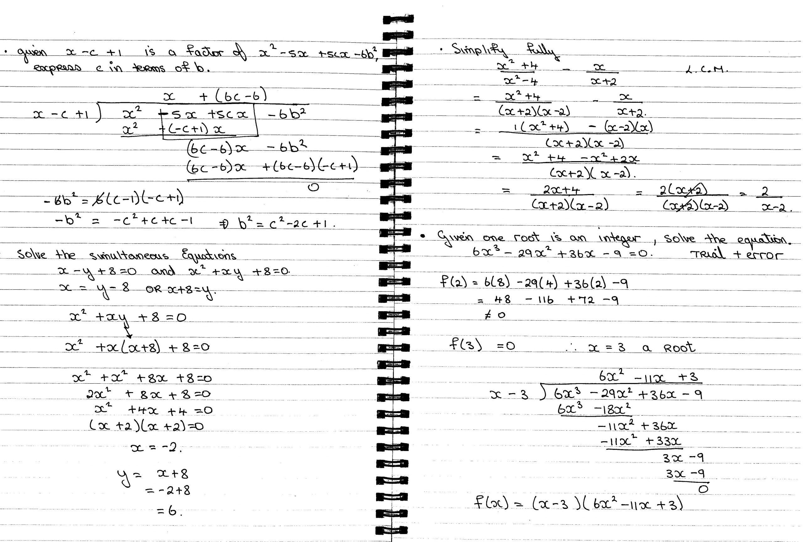 Algebra Worksheets Leaving Cert 2