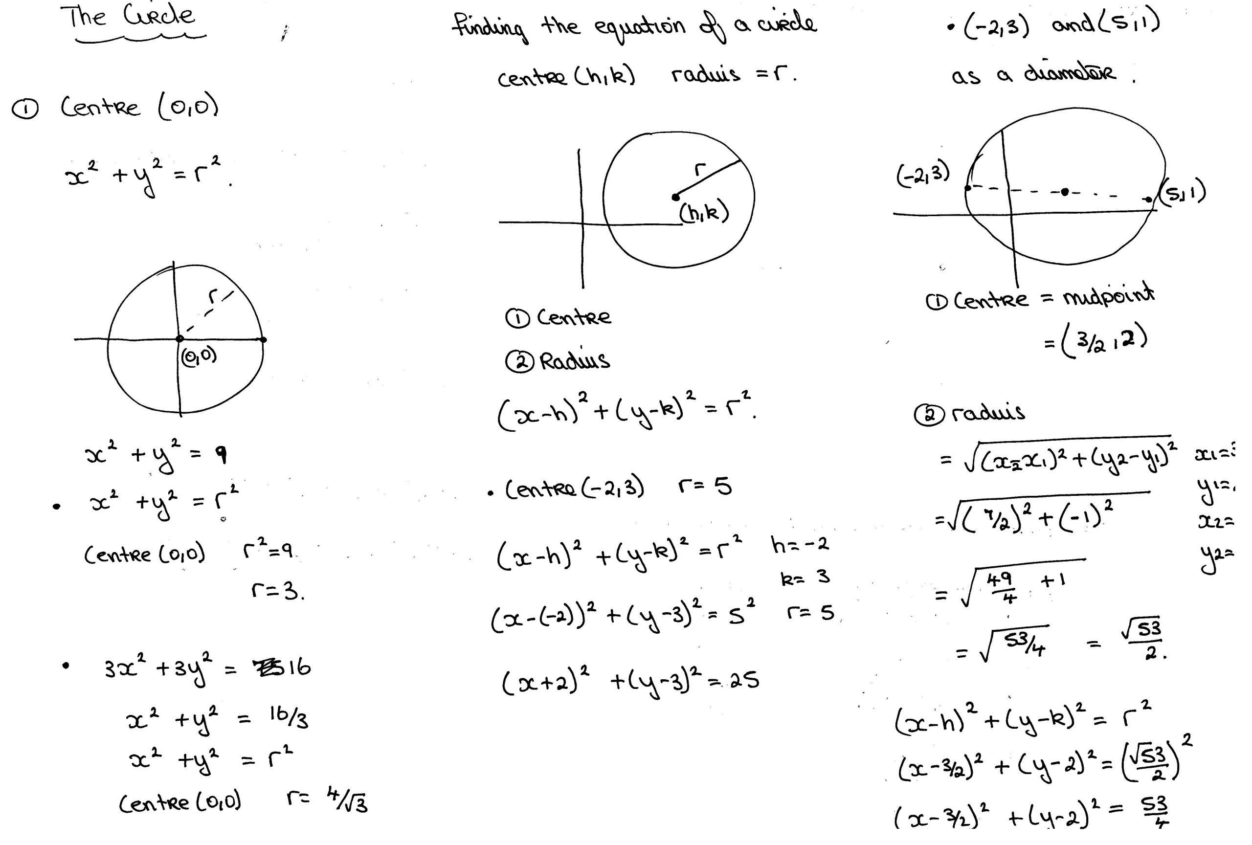 Algebra Worksheets Leaving Cert 3
