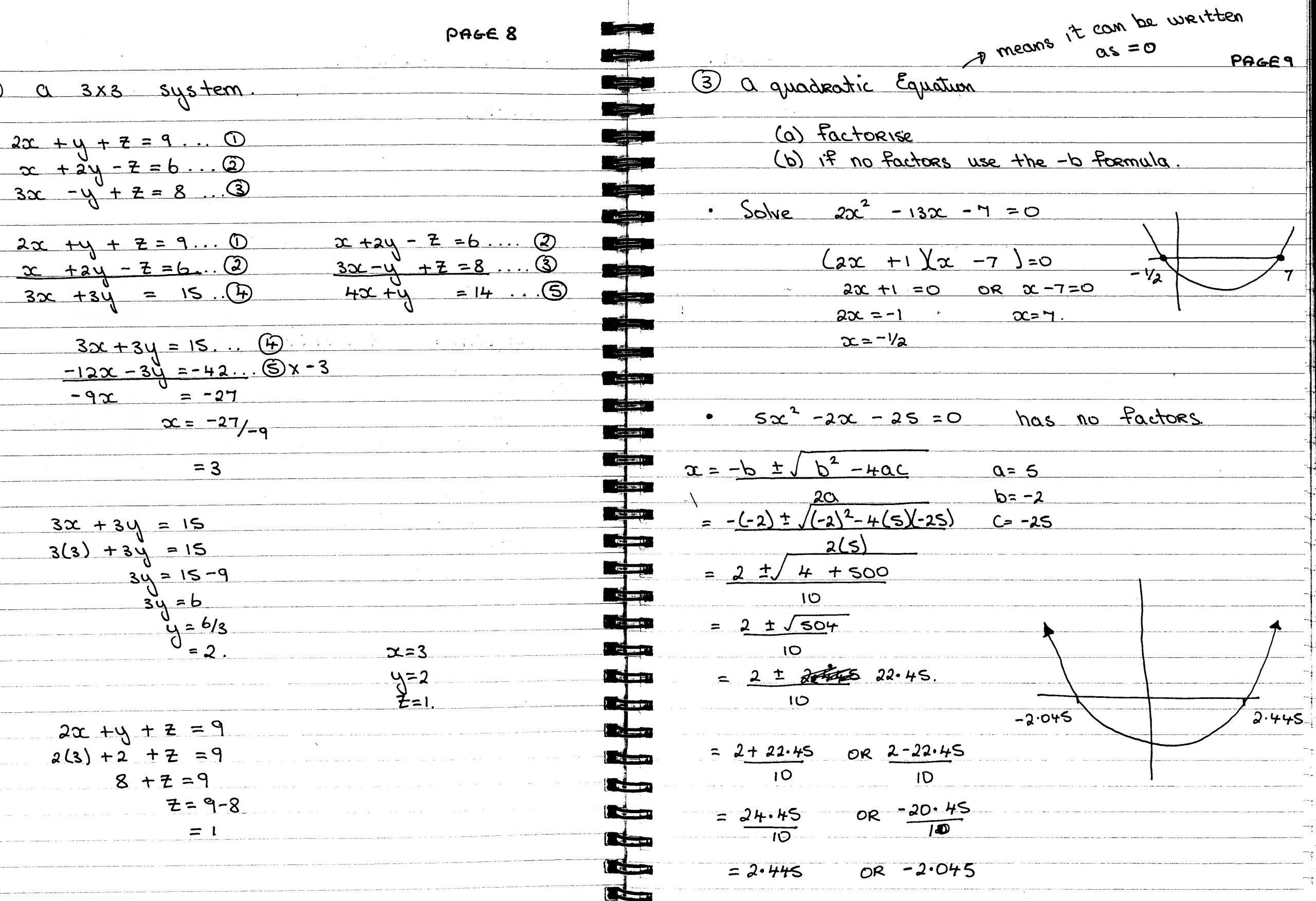 Algebra Worksheets Leaving Cert 7