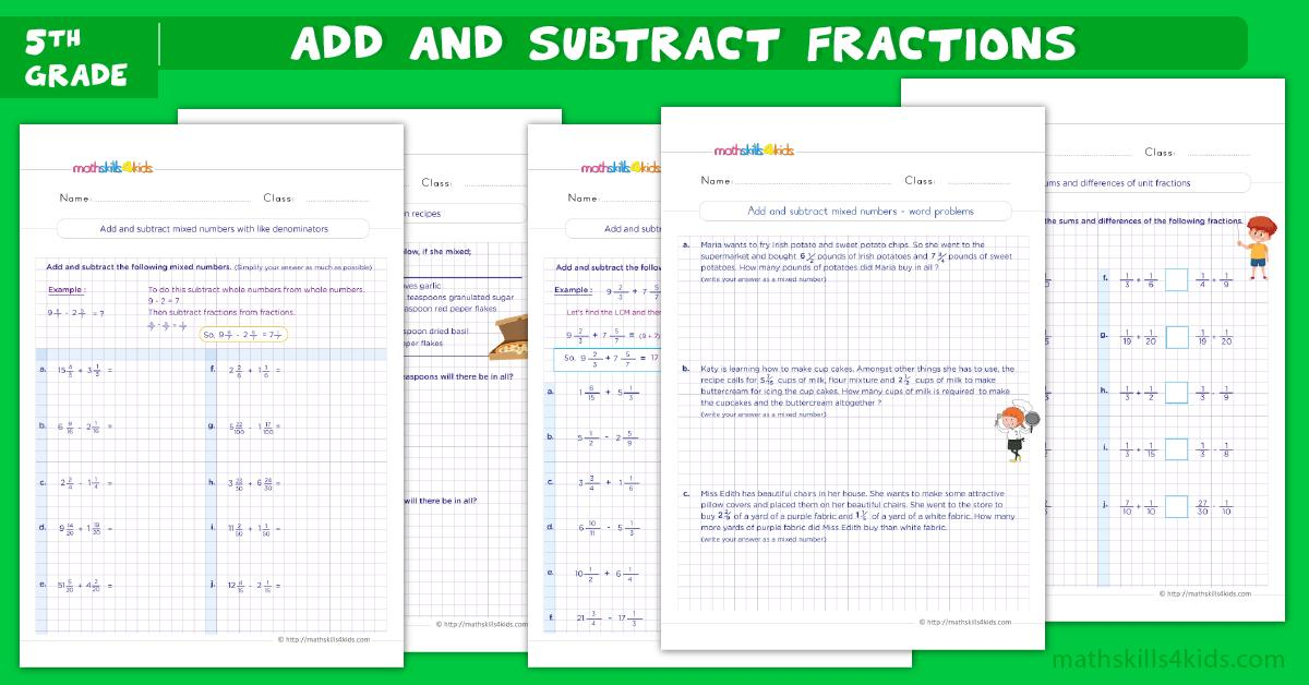 Algebraic Expressions Worksheets For Grade 5 With Answers