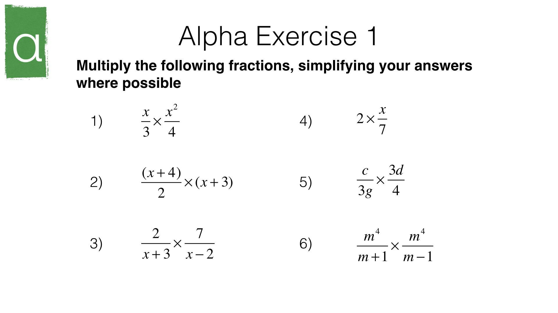 Easy Algebra Worksheets Free