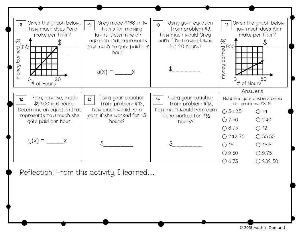 Math Worksheets Grade 7 Algebra