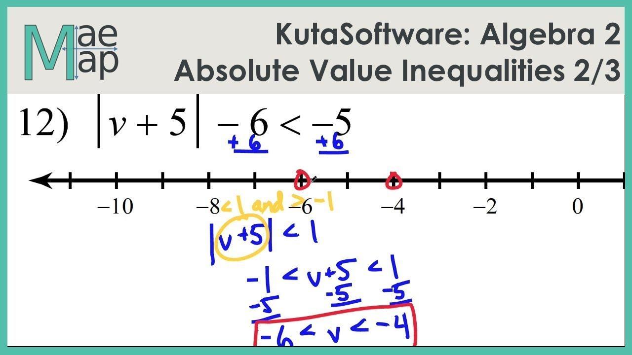 Maths Inequalities Worksheet