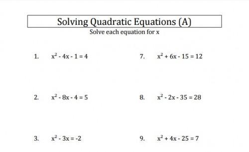 Mixed Algebra Worksheet Ks3