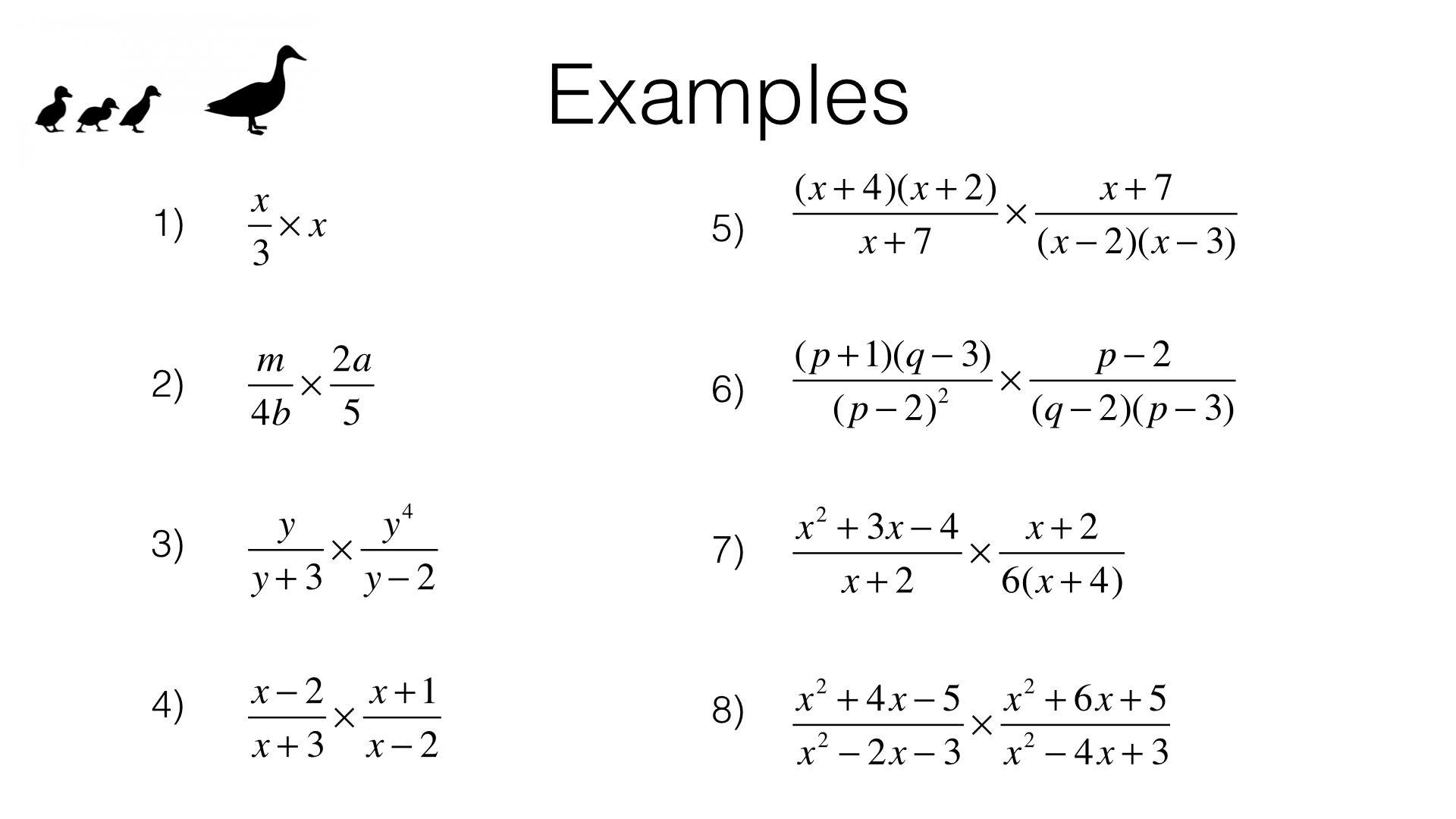 Algebra Worksheets Multiplication And Division 1