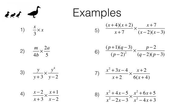 Algebra Worksheets Multiplication And Division