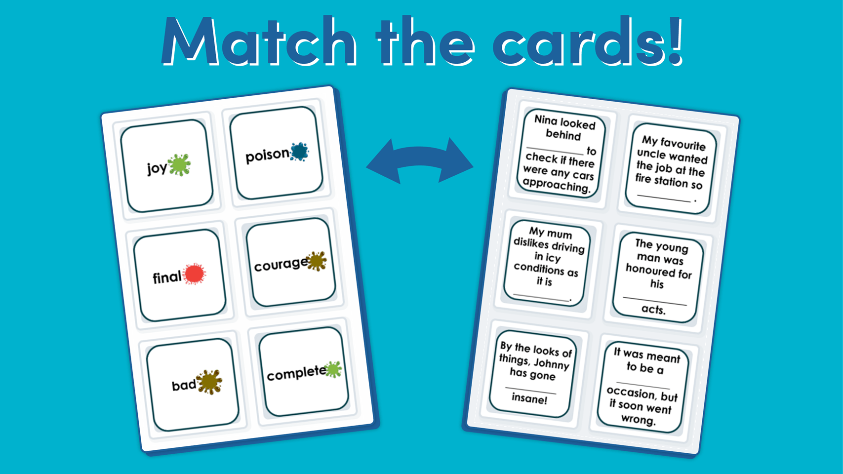 Year 4 Suffixes Ous And Ly Matching Game
