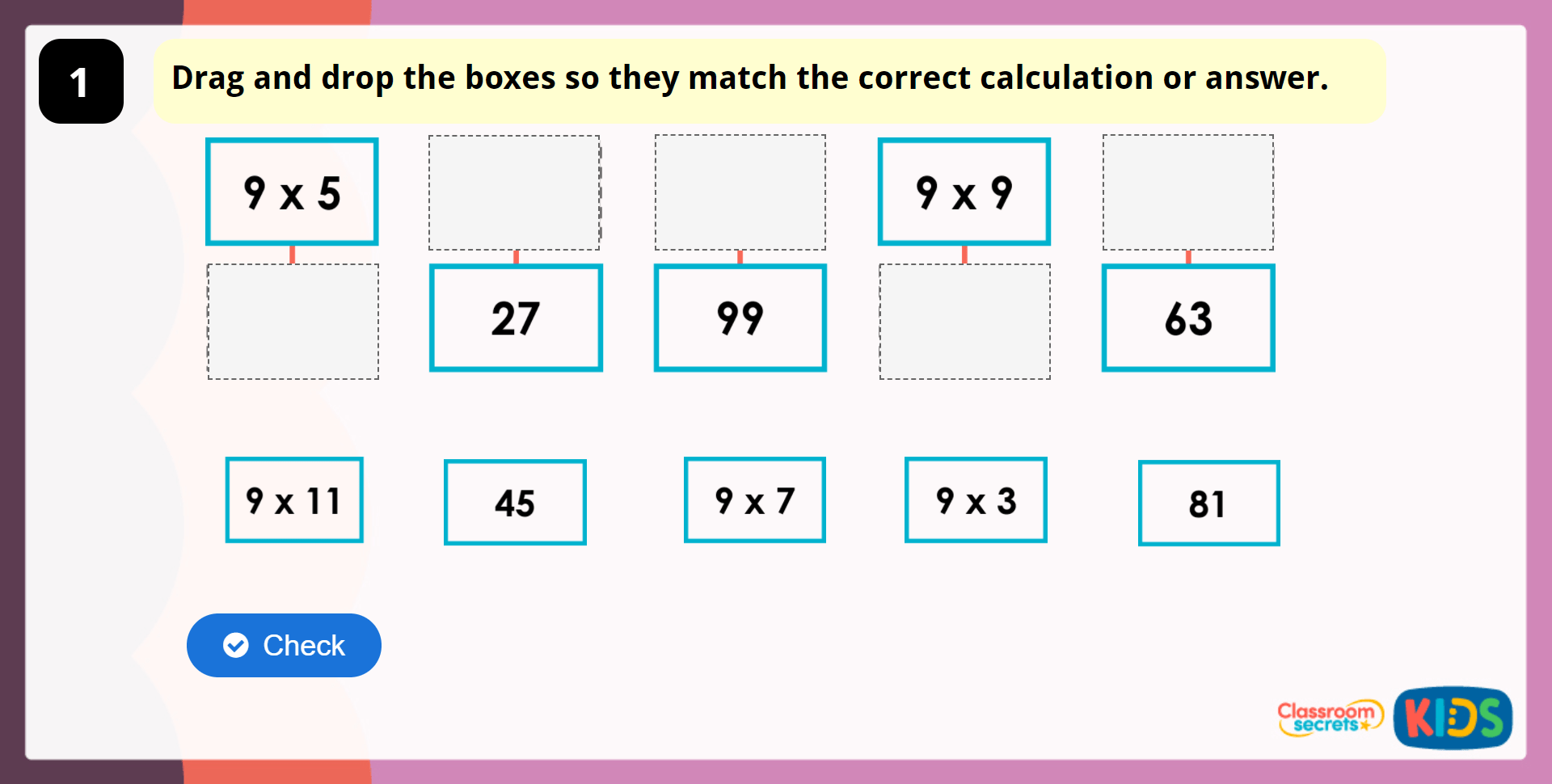 Year 4 9 Times Table And Division Facts Lesson