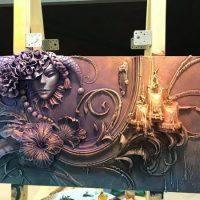 Artista russo usa técnica antiga para transformar paredes em arte