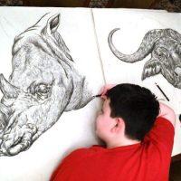 Adolescente de 15 anos é um prodígio a desenhar animais