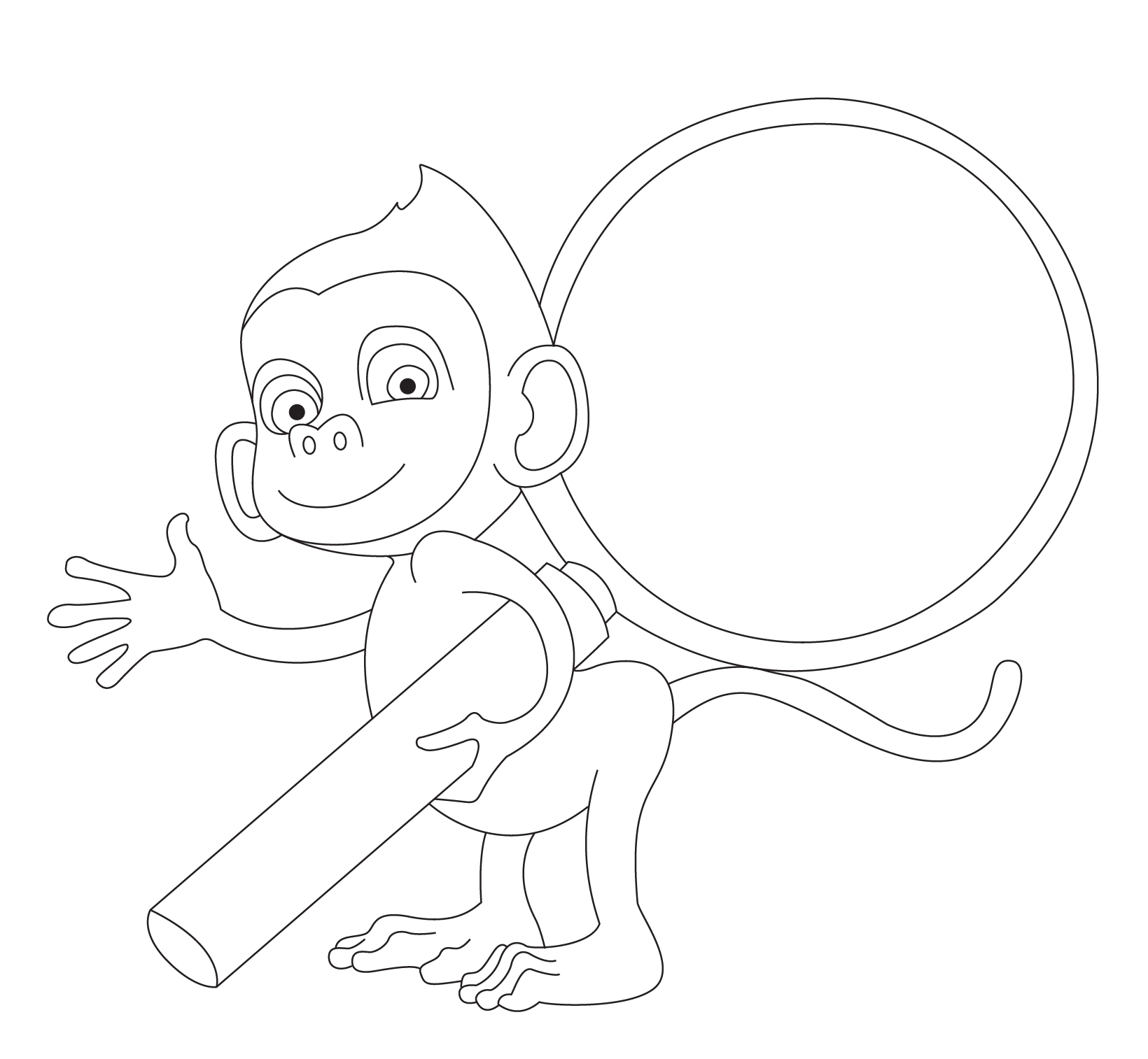 Coloring Monkey And The Cap Seller Story