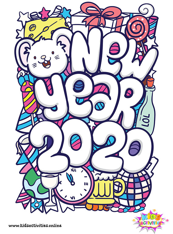 Cute New Year Doodle 2020