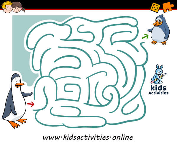 Printable mazes for toddler