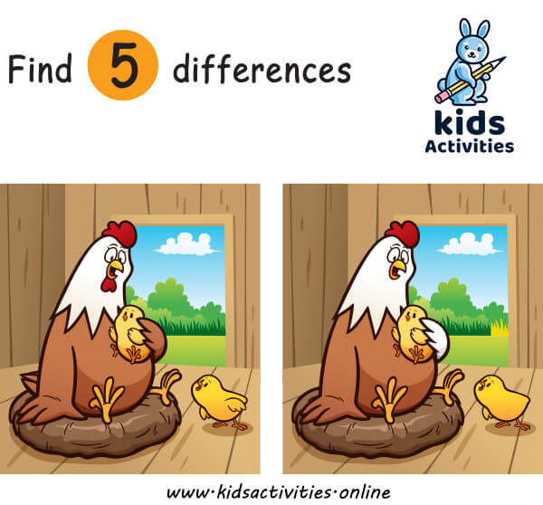 Spot the difference for 5 year olds printable