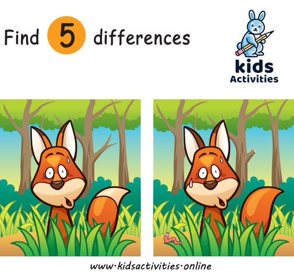 Best Spot the Difference images for kids