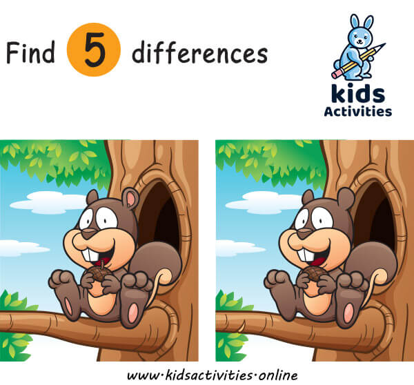 Spot the difference printable for toddler