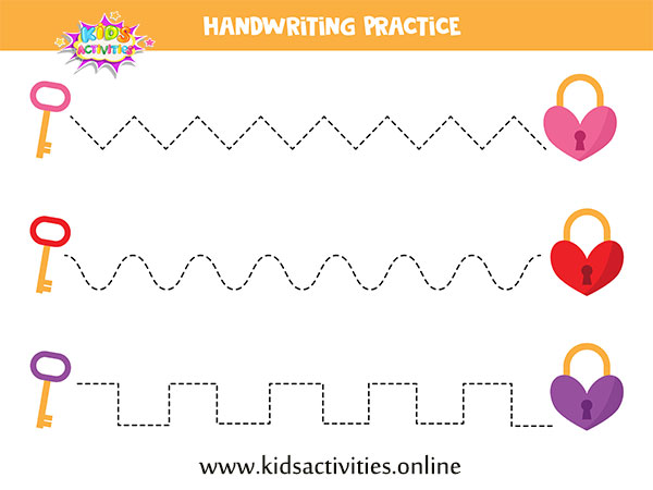 Tracing worksheets pictures