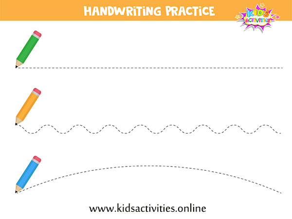 Free preschool worksheets age 3-4 - tracing lines worksheets for preschool