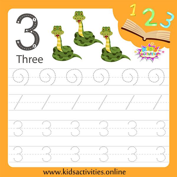 Writing numbers for kindergarten