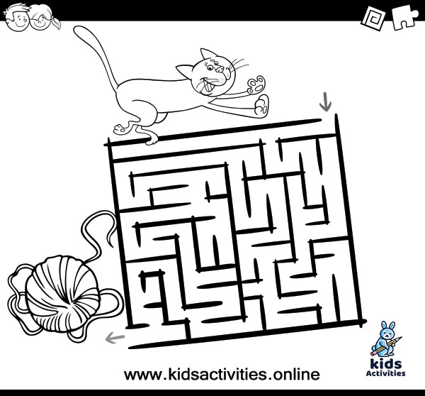 Free printable maze coloring pages for kids