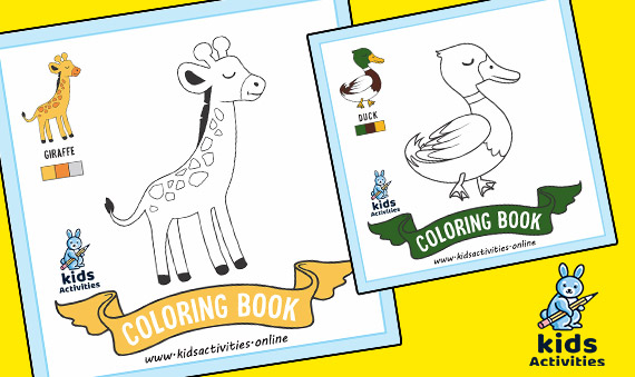 Free Cute Animals Coloring Pages Printable pdf