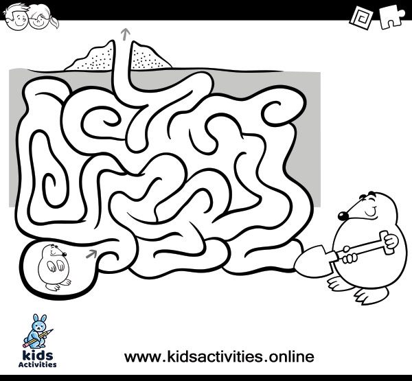 Download free printable mazes coloring pages