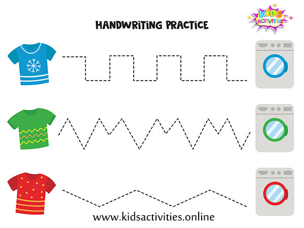 Tracing Lines Worksheets free printable