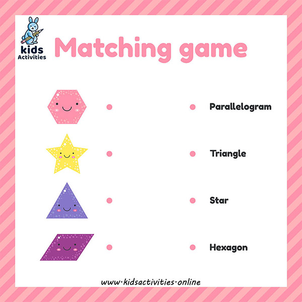 shapes activities for kindergarten - Matching game