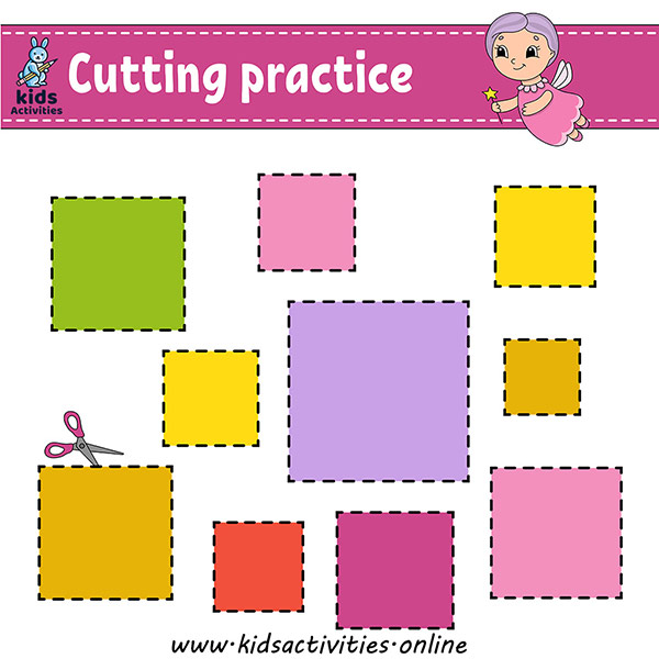Free Printable Cutting Shapes Worksheets