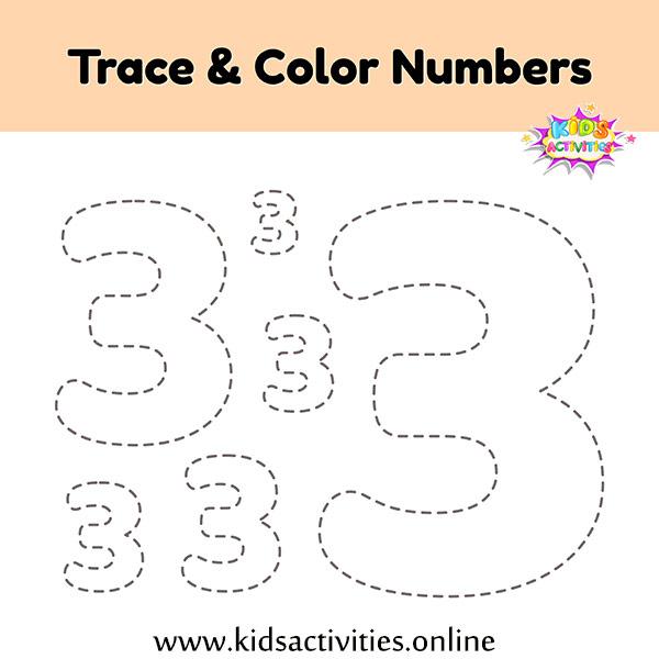 tracing numbers 1 10 free printable