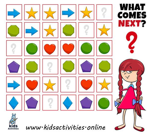 Activities Shape worksheets for preschoolers
