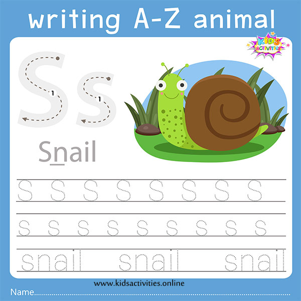 Tracing letters s